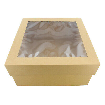 "SpecialT | Cake Boxes with Window 25-Pack 12"" x 12"" x 6"" Inch Bakery Boxes"