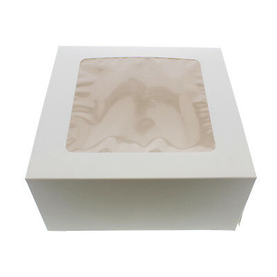 "SpecialT | Cake Boxes with Window 15-Pack 10"" x 10"" x 5"" Inch White Bakery Boxes"