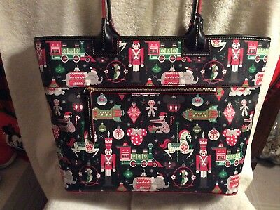 Disney Parks Dooney & Bourke 2018 Christmas Holiday Tote Bag Purse NWT
