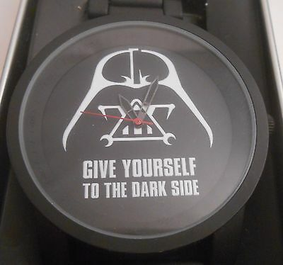 Accutime Star Wars Darth Vader Give Yourself to the Dark Side Wristwatch NEW TIN