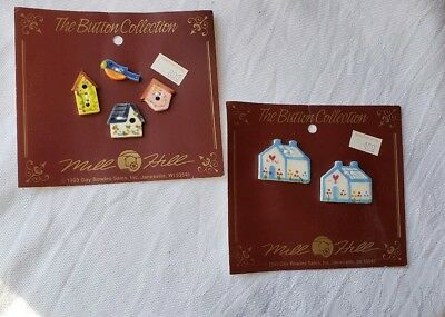 Retro Buttons Designer The Button Collection Mill Hill Houses Bird Houses Lot
