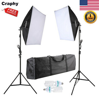 Photo Video Studio Photography Continuous Softbox Light Stand Lighting Kit 700W