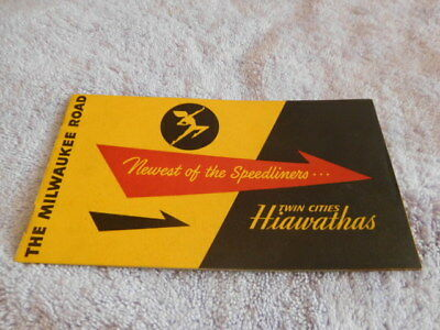 """Railroad-Milwaukee Road-""""newest Of The Speedliners..twin Cities Hiawathas"""" 1948"""
