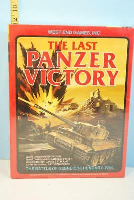 The Last Panzer Victory Battle of Debrecen Hungary 1944 West End Games SHRINK