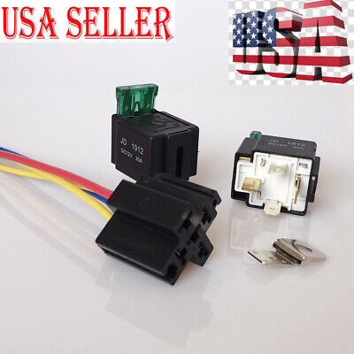 12VDC 30A 4Pin Electronic Car Automotive Auto Fuse with Socket Accessory US