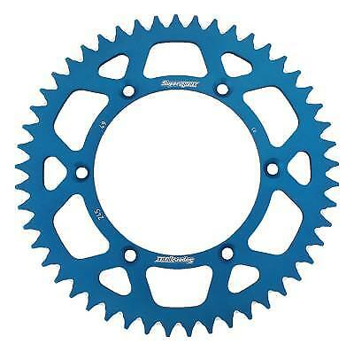 Supersprox Aluminium Blue Rear Sprocket 520 49 Teeth Yamaha YZ 490 H 1987