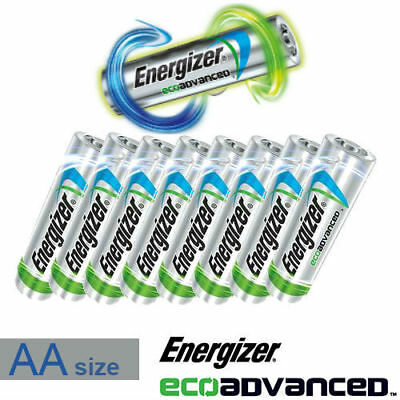 1/2/5/10/12/20/24/48/50 Energizer Eco Advanced Aa Recycled Battery Bulk Value