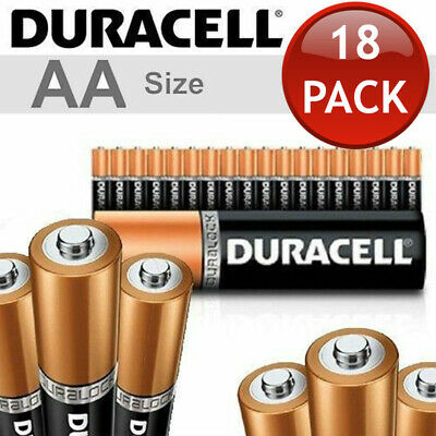 18 x 1.5V DURACELL AA ALKALINE BATTERIES BATTERY BULK ENERGIZER DURA LOCK POWER