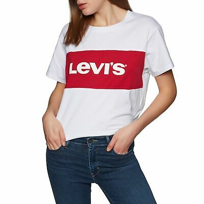 Levis Damen Tshirt Top Shirt Snoopy Peanuts The Perfect Col Rond