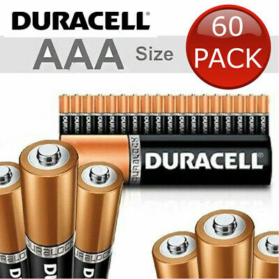 60 x 1.5V DURACELL AAA ALKALINE BATTERIES BATTERY BULK ENERGIZER DURA LOCK POWER