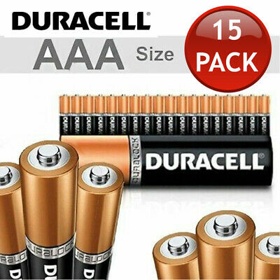 15 x 1.5V DURACELL AAA ALKALINE BATTERIES BATTERY BULK ENERGIZER DURA LOCK POWER