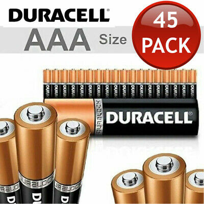 45 x 1.5V DURACELL AAA ALKALINE BATTERIES BATTERY BULK ENERGIZER DURA LOCK POWER