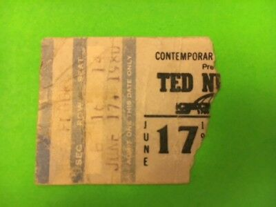 Ted Nugent 1980 Checkerdome St.louis,mo Concert Ticket Stub Vintage Collectible
