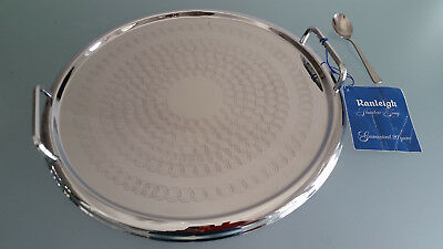 Round Art Deco Ranleigh Tray ** One Of The Best **. Almost Like New With Tag  **