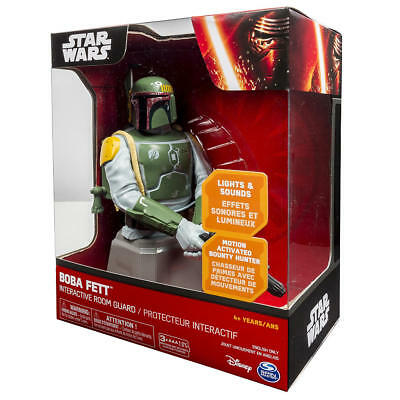 New **STAR WARS** BOBA FETT INTERACTIVE ROOM GUARD MOTION ACTIVATED