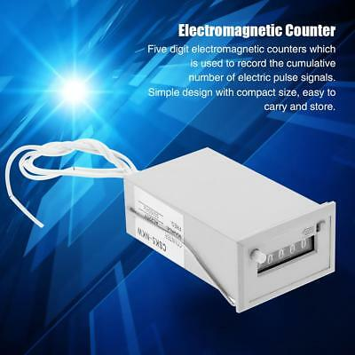 Electromagnetic Counter CSK5-NKW 5 Digit Pulse Counter AC 220V/AC 110V/DC 24V