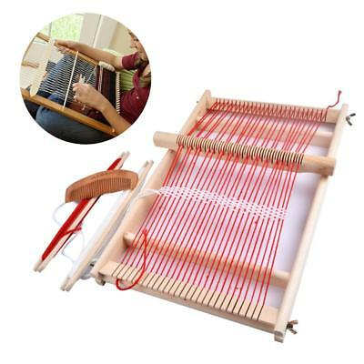 Wooden Weaving Loom Machine Pretend Play Toy Kid Girl DIY Knitting Craft Kit