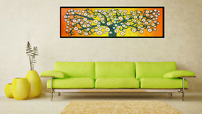 Framed art Print painting canvas Tree Of Life abstract  dot original design 47""