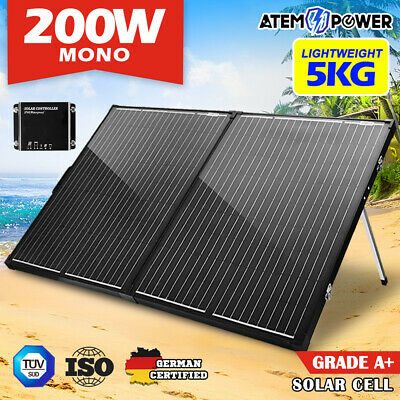 ATEM POWER 200W Folding Solar Panel Kit SUPER LIGHT 12V Mono Flexible Camping