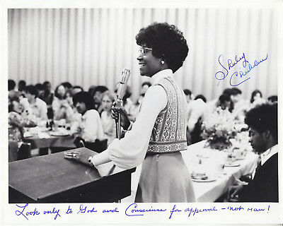 SHIRLEY CHISHOLM hand signed 8x10 photograph photo ] autographed