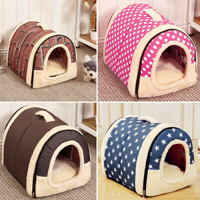 Extra Large Dog Pet Cat Bed House Puppy Warm Kennel Cave Nest Pad Cushion Washed