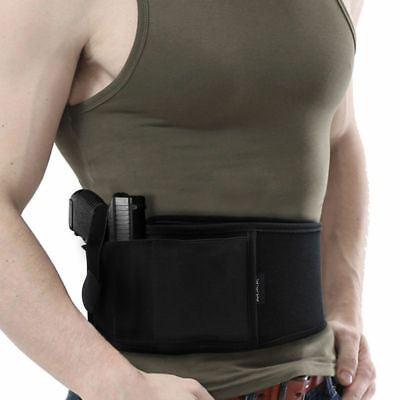 Ultimate Belly Band Holster Consealed Pouch For Police Bodyguard Self-defense