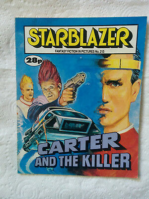 """Starblazer #215 """"CARTER AND THE KILLER"""" published by DC Thomson"""