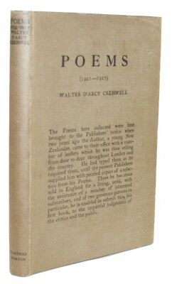 1928 WALTER CRESSWELL Poetry POEMS Verse NEW ZEALAND POET 1st Edition