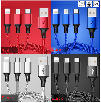 Electrical Equipment & Supplies Universal 3 In1 Multi Usb Charger Charging Sync Cable For Android Phones Tablets