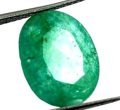 GGL Certified 4.40 Ct Natural Oval Cut Green Emerald Gemstone Hurry Now