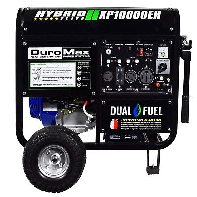 DuroMax XP10000EH 18hp 10000W Electric Start Dual Fuel Hybrid Portable Home RV