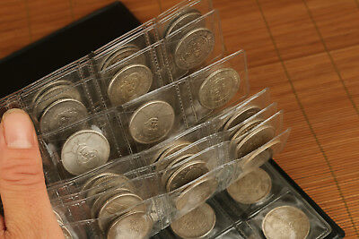 Rare Old Iron plating silver Handmade 120 piece Collection coins BOOK
