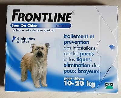 Frontline  Spot  On  Chien - 10-20 Kg - 4  Pipettes
