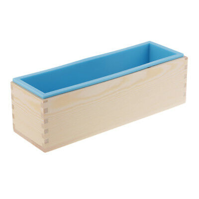 Rectangle Soap Mold Silicone Craft DIY Making Homemade Cake Mould 1.2KG Blue