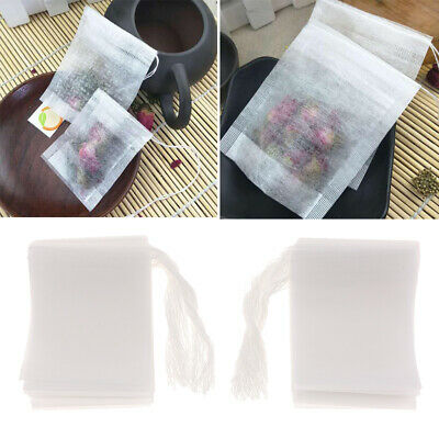 100pcs Empty Teabags String Heat Seal Filter Herb Loose Tea Bags Teabag