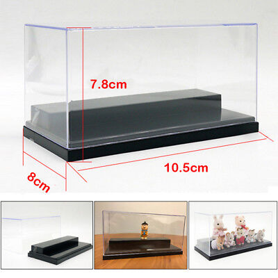 US Figure Clear Acrylic Plastic Display Box Case Protection Toys Dustproof 20cm