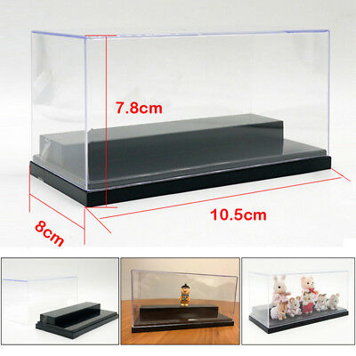 US STOCK Figure Clear Acrylic Plastic Display Box Case Protection Toys Dustproof