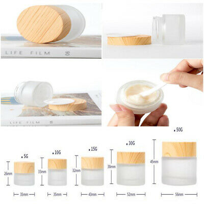2 Pieces Face Cream Lotion Cosmetic Jars Pot Face Cream Lip Balm Containers