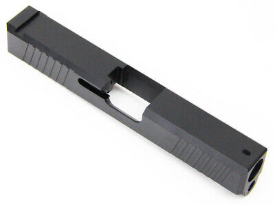 Slide for Glock 19 P80 Gen 3 Polymer80 w/ Front and Rear Angled Serrations