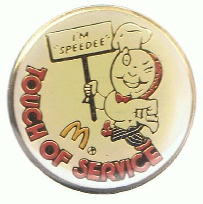 Mc Donalds - Touch of Service - I M SPEEDEE - Pin aus Metall