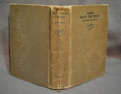 Gone With the Wind by Margaret Mitchell 1936 October Printing Macmillan HC.