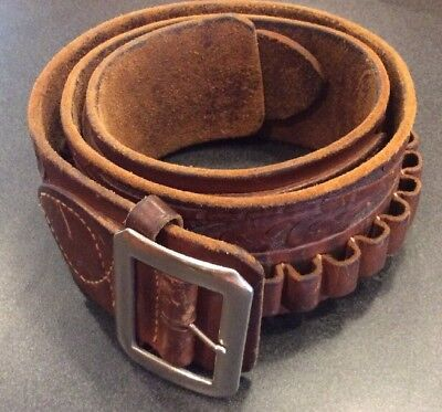 Vintage George Lawrence Portland, Oregon .38 Cowboy Western Cartridge Belt