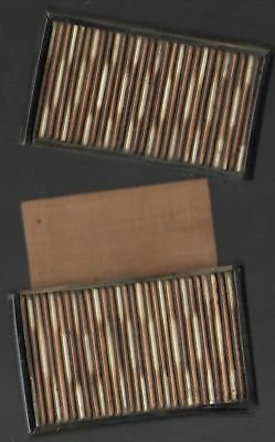 A rare bone and porcupine quill card case. Slight imperfections. 8 x 10 x 1/2 cm
