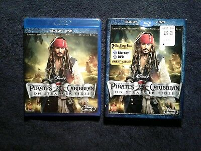 Pirates of the Caribbean: On Stranger Tides (Blu-ray/DVD) With Slipcover New