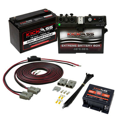 Camping KICKASS 12V 120AH Dual Battery System with Battery