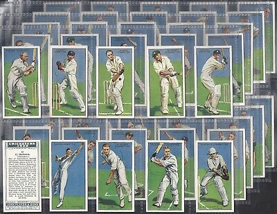 Players-Full Set- Cricket Ers 1930 (50 Cards) Don Bradman - Exc