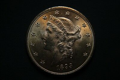 1893 $20 Double Eagle Gold Piece BU uncirculated