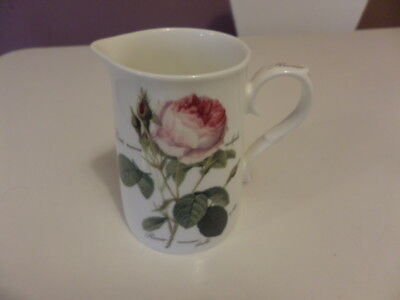 REDOUTE ROSES - ROY KIRKHAM - 2006 - JUG - white with rose design - 10.5cm high