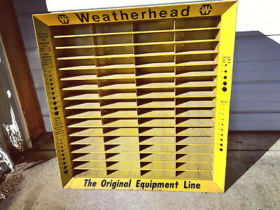 Vintage WEATHERHEAD CABINET Hydraulic Pnuematic Fittings Nuts Bolts Etc.... NR !