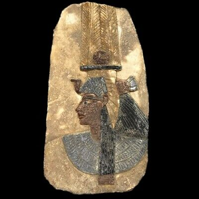 Very Rare Ancient Egyptian Plaque With Pharaoh Late Period 664 - 332 Bc